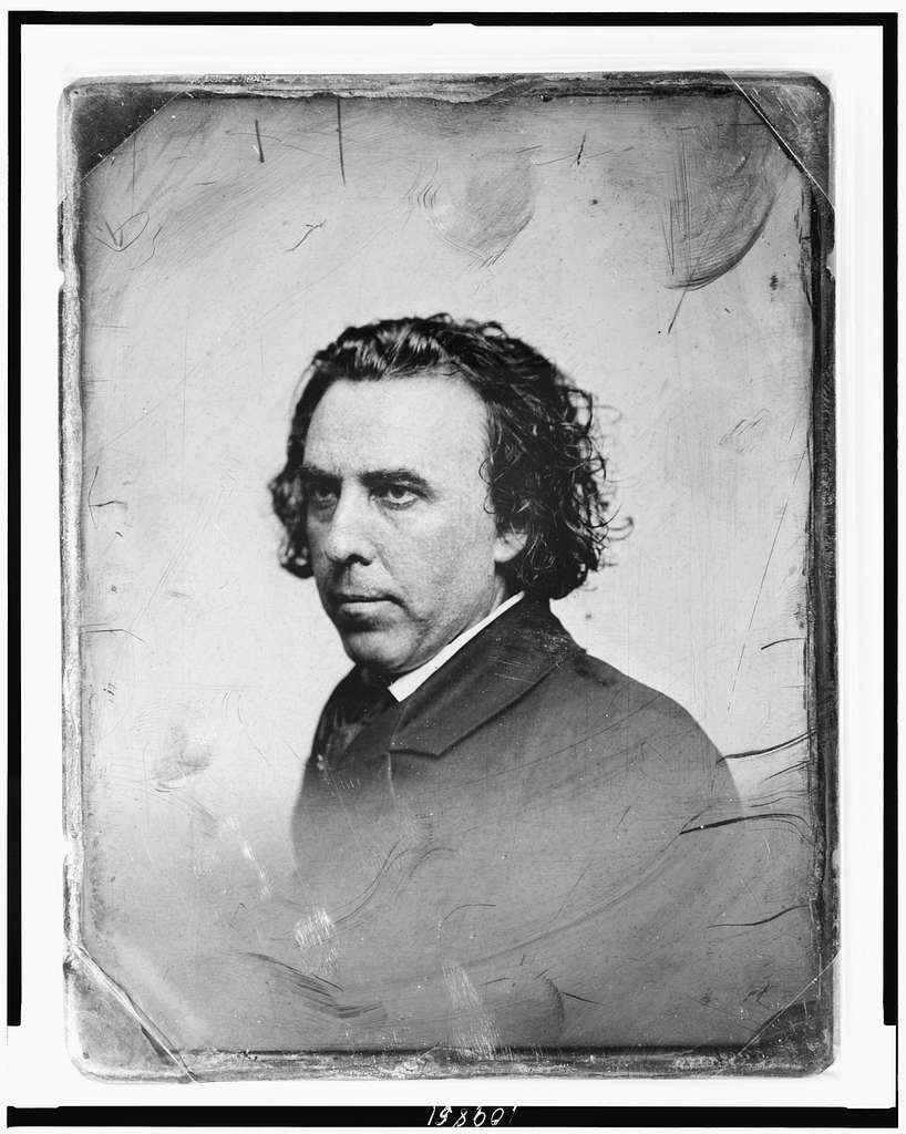 [Unidentified man, about 35 years of age, head-and-shoulders portrait, three-quarters to the left]