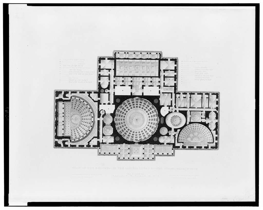 [United States Capitol, Washington, D.C. Reflected ceiling plan]