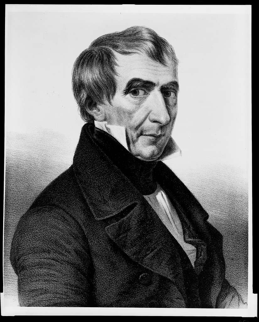 Wm. H. Harrison, President of the United States / drawn on stone by Chas. Fenderich ; from a painting by Mr. Franquinet.