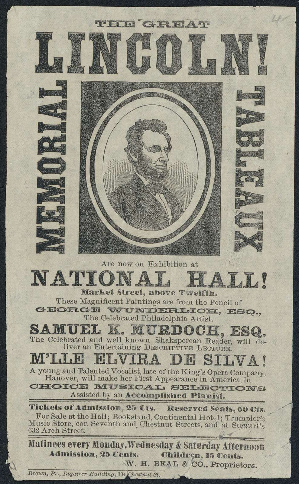 The Great Lincoln memorial tableaux are now on exhibition at National Hall!