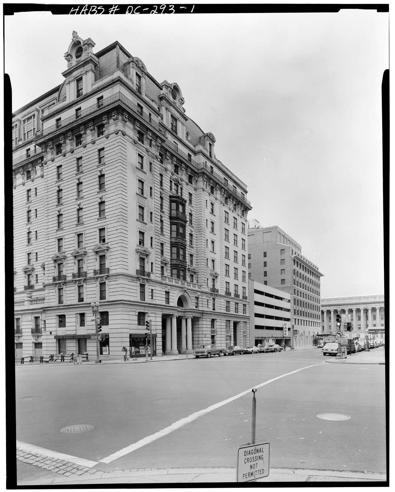 Willard Hotel, 1401-1409 Pennsylvania Avenue Northwest, Washington, District of Columbia, DC