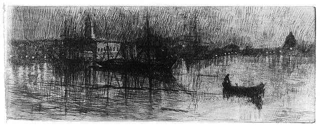 A rainy night, Venice
