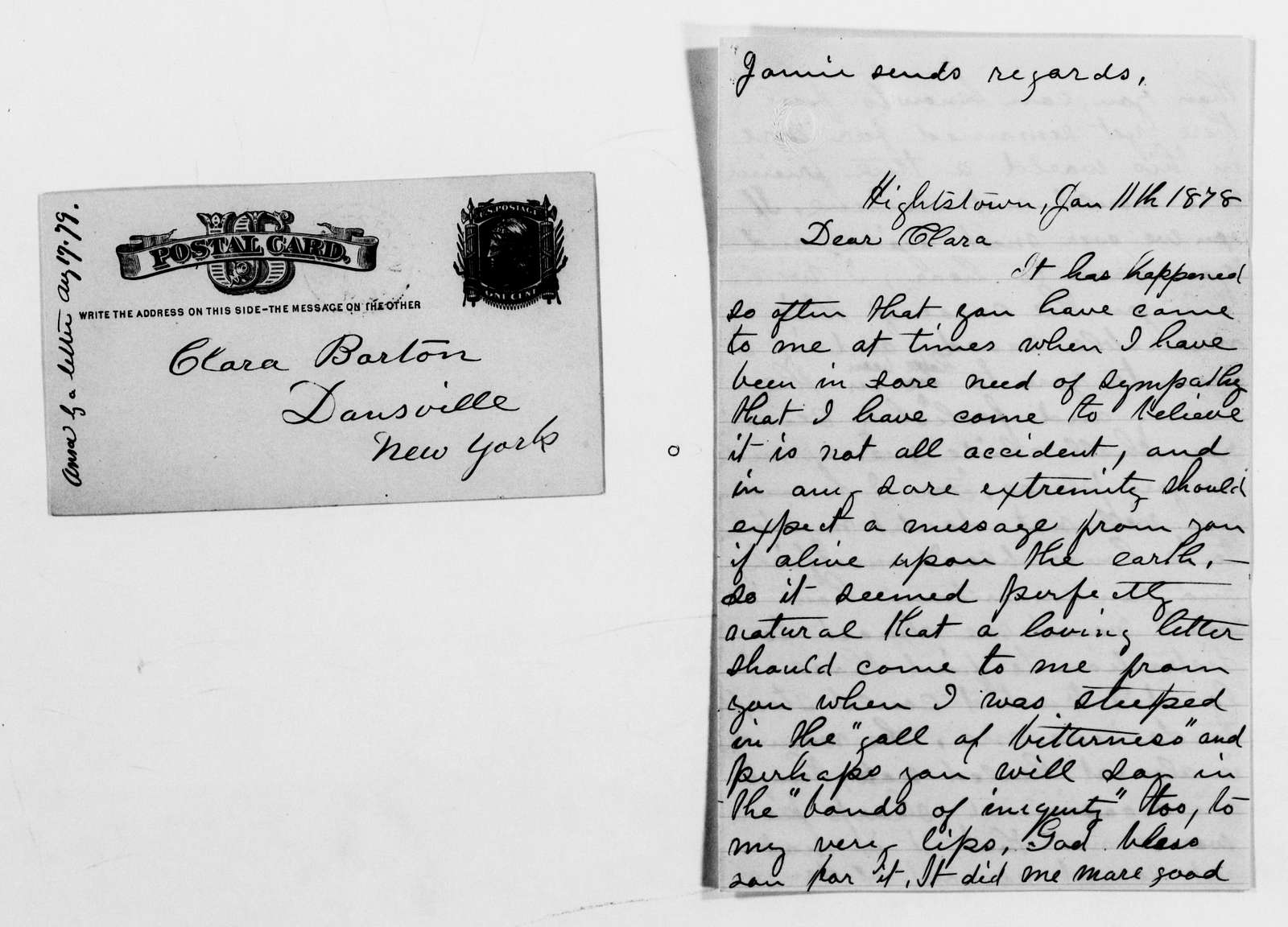 Clara Barton Papers: General Correspondence, 1838-1912; Norton, Charles M. and Mary, 1869-1902, undated
