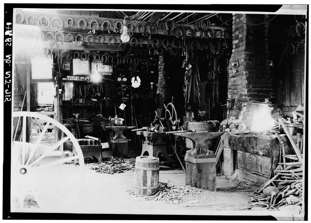 Farley Blacksmith Shop, 82 Memorial Parkway (moved to Johnson Park, Piscataway), New Brunswick, Middlesex County, NJ