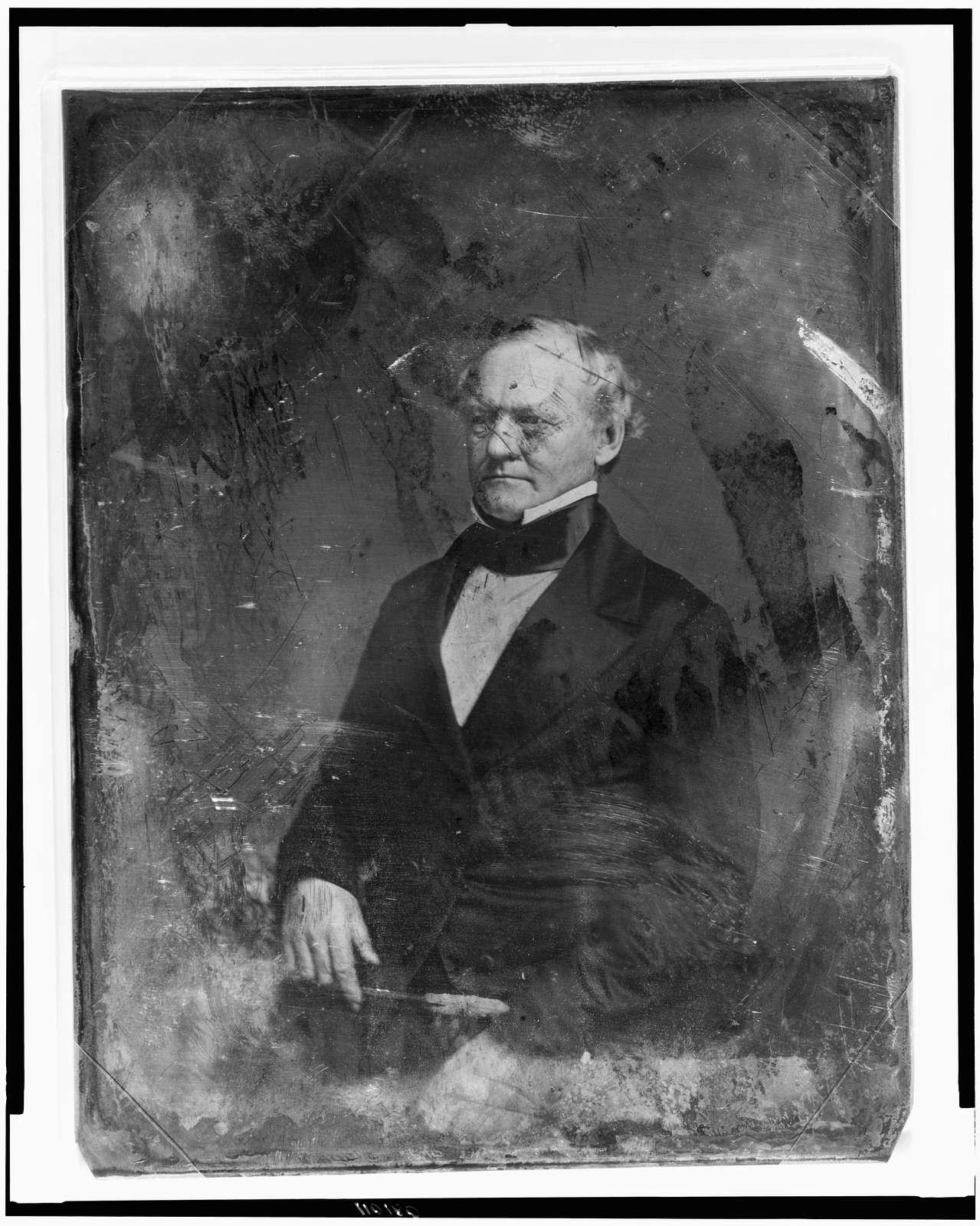 [George Washington Crawford, half-length portrait, three-quarters to the left]