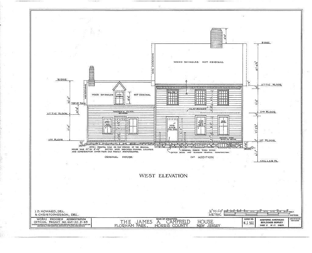 James A. Campfield House, Florham Park, Morris County, NJ
