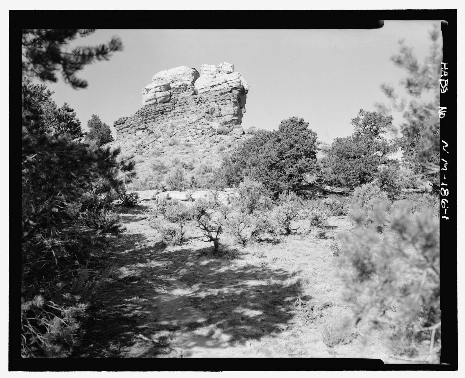 Pointed Butte Pueblito, Cibola Canyon, Dulce, Rio Arriba County, NM