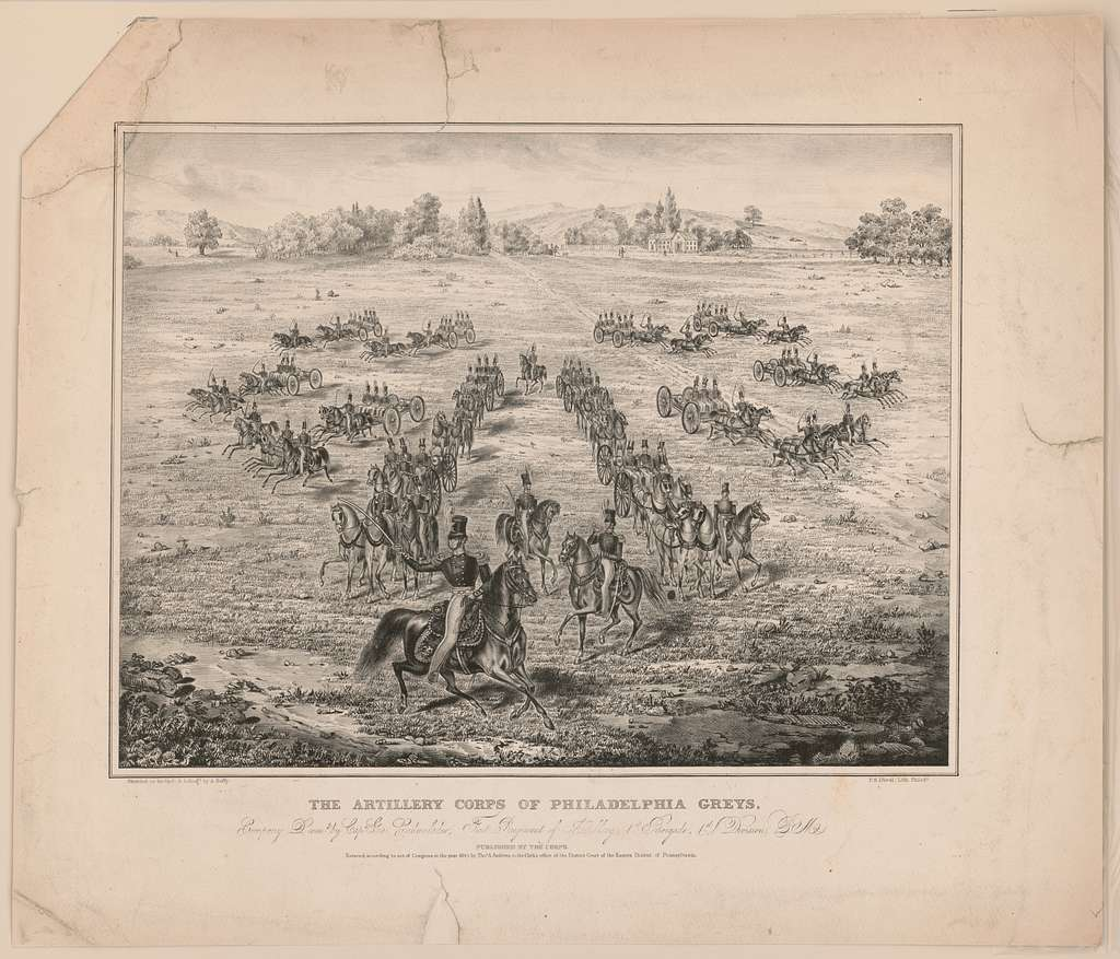 The artillery corps of Philadelphia  greys, company D., comd. by Capt. Geo. Cadwalader
