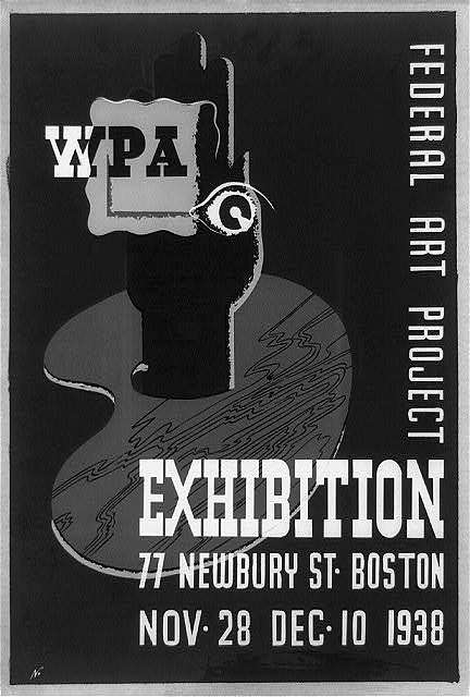WPA Federal Art Project exhibition, 77 Newbury St., Boston, Nov. 28, Dec. 10, 1938 / N.