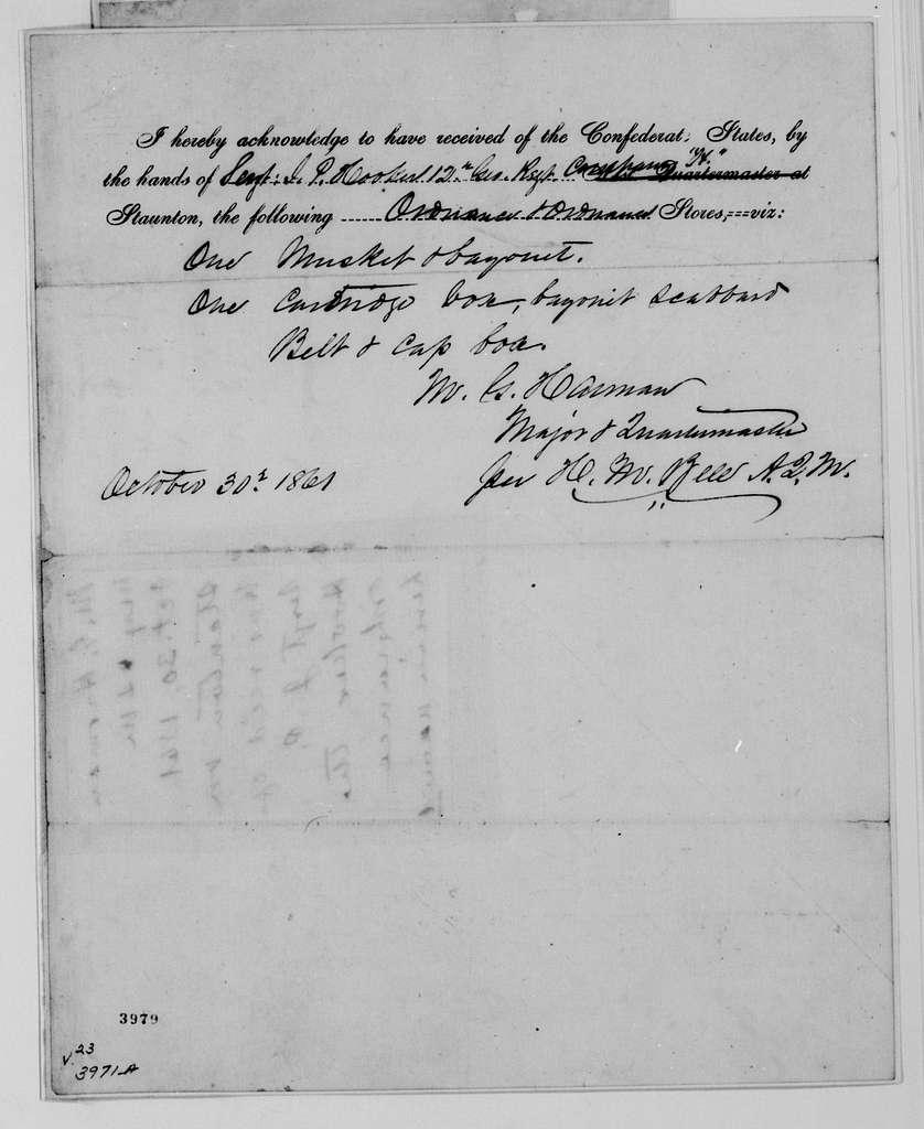Alexander Hamilton Stephens Papers: General Correspondence, 1784-1886; 1882, Oct. 20-Nov. 19