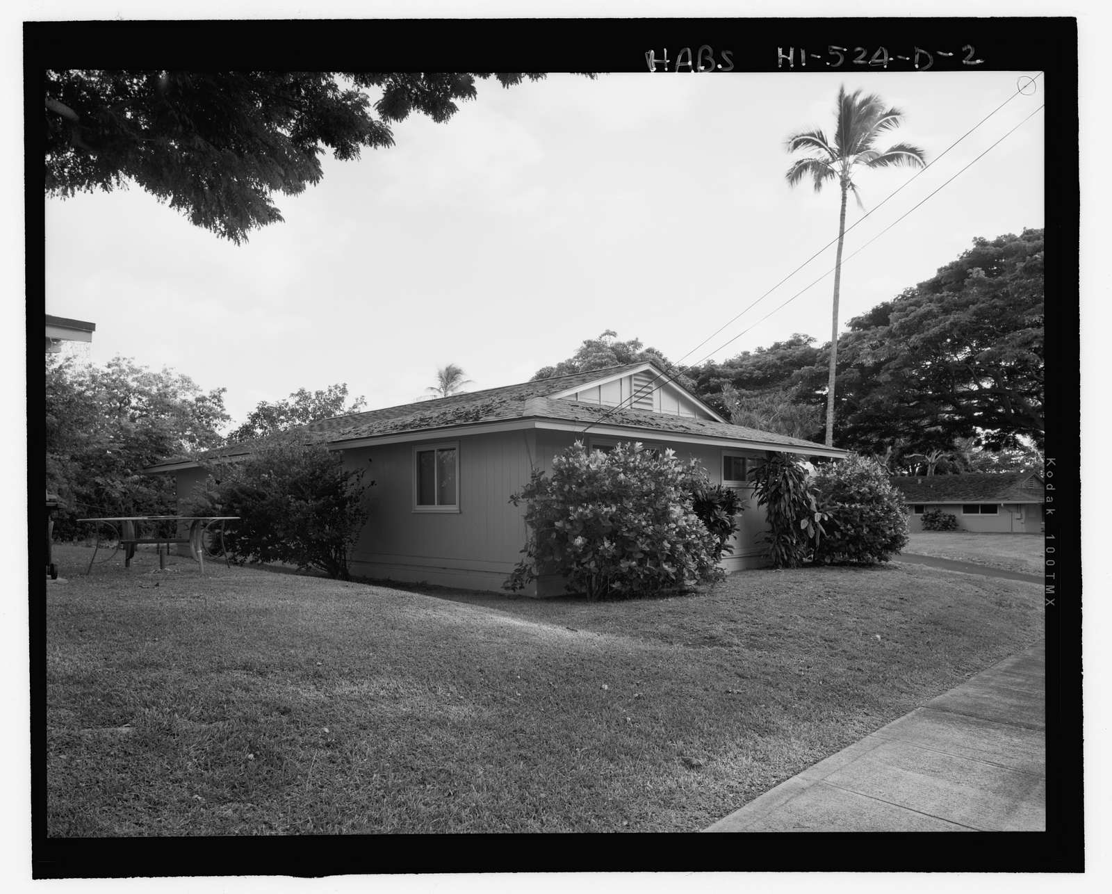 Camp H.M. Smith and Navy Public Works Center Manana Title VII (Capehart) Housing, U-Shaped Three-Bedroom Duplex Type 4, Acacia Road, Birch Circle, Cedar Drive and Elm Drive, Pearl City, Honolulu County, HI