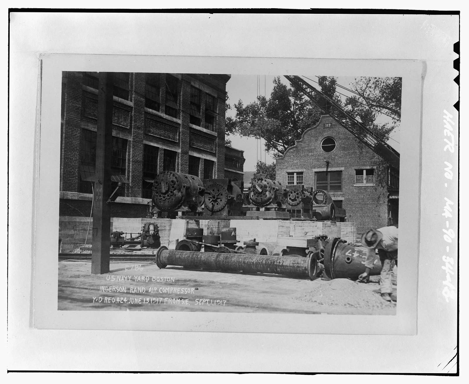 Charlestown Navy Yard, Central Power Plant, Attached to northeast end of Building 107 at intersection of Third Avenue & Ninth Street, Boston, Suffolk County, MA