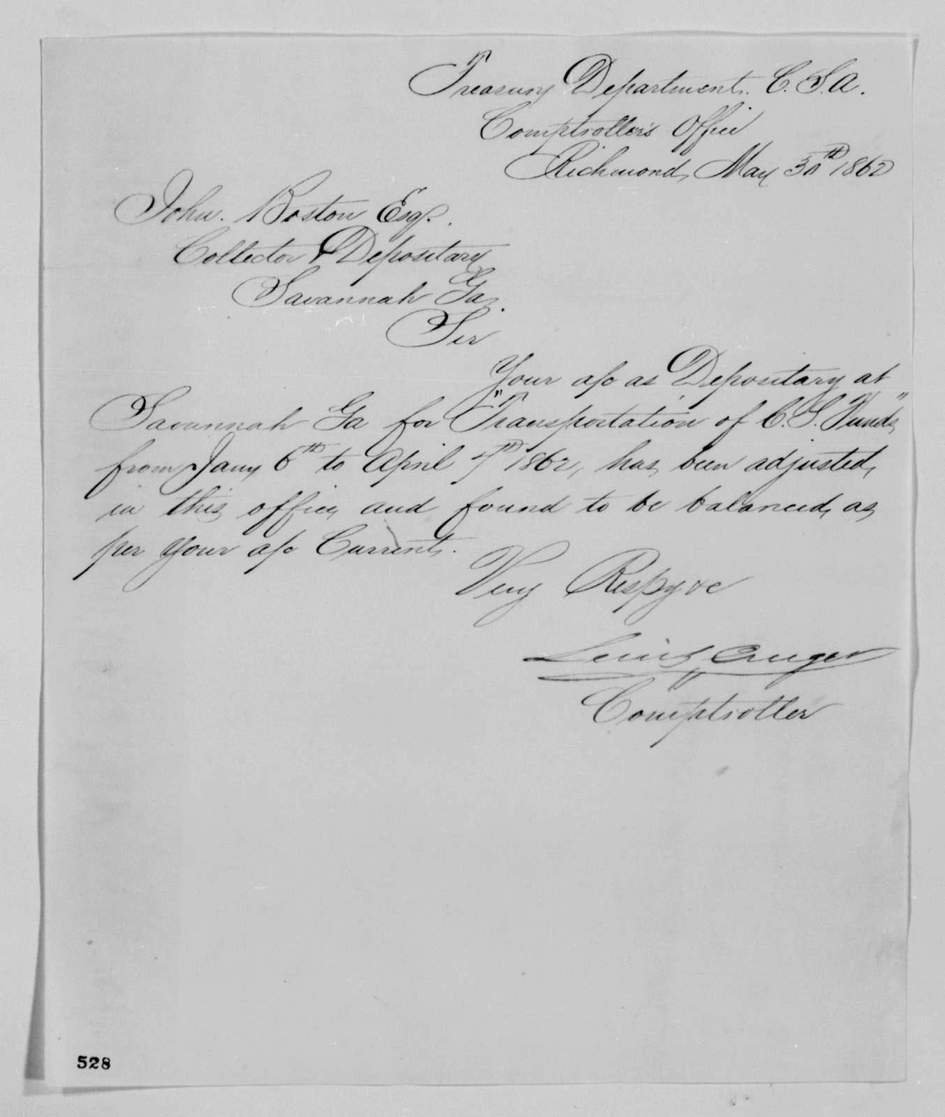 Confederate States of America records: Microfilm Reel 46