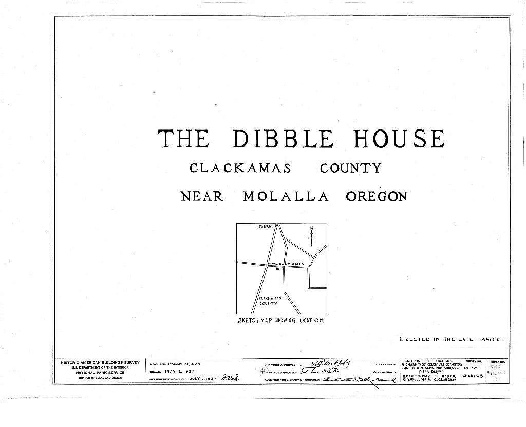 Dibble House, Molalla, Clackamas County, OR