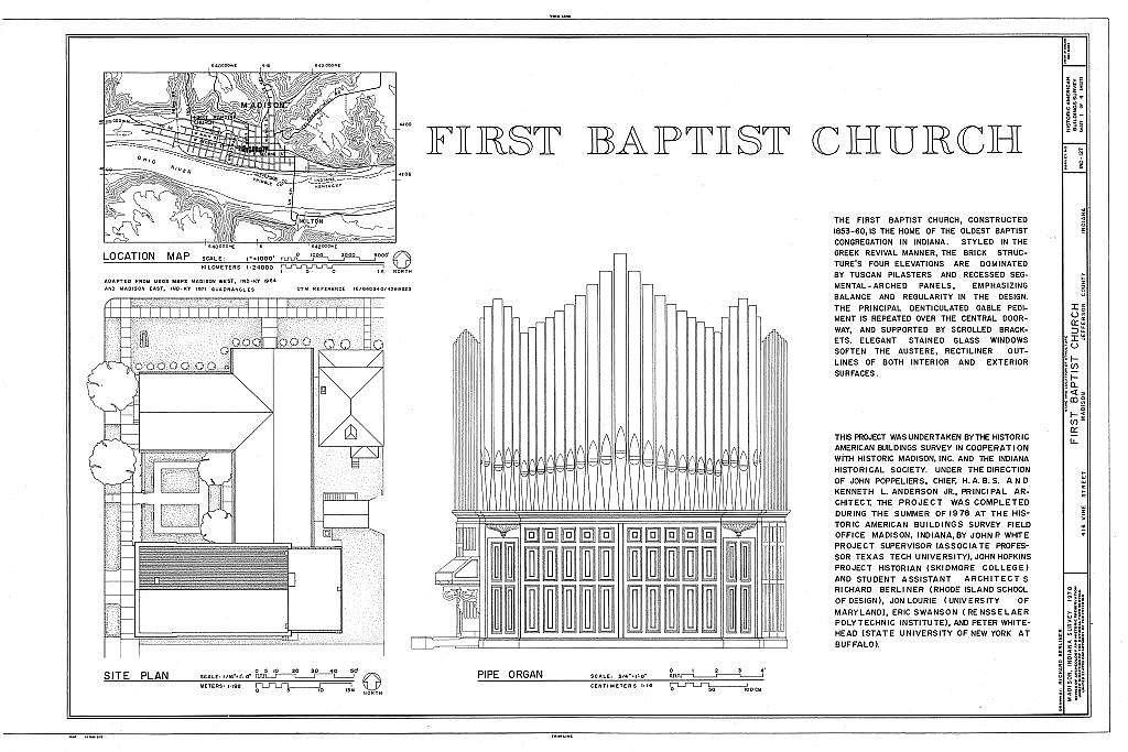 First Baptist Church, 416 Vine Street, Madison, Jefferson County, IN