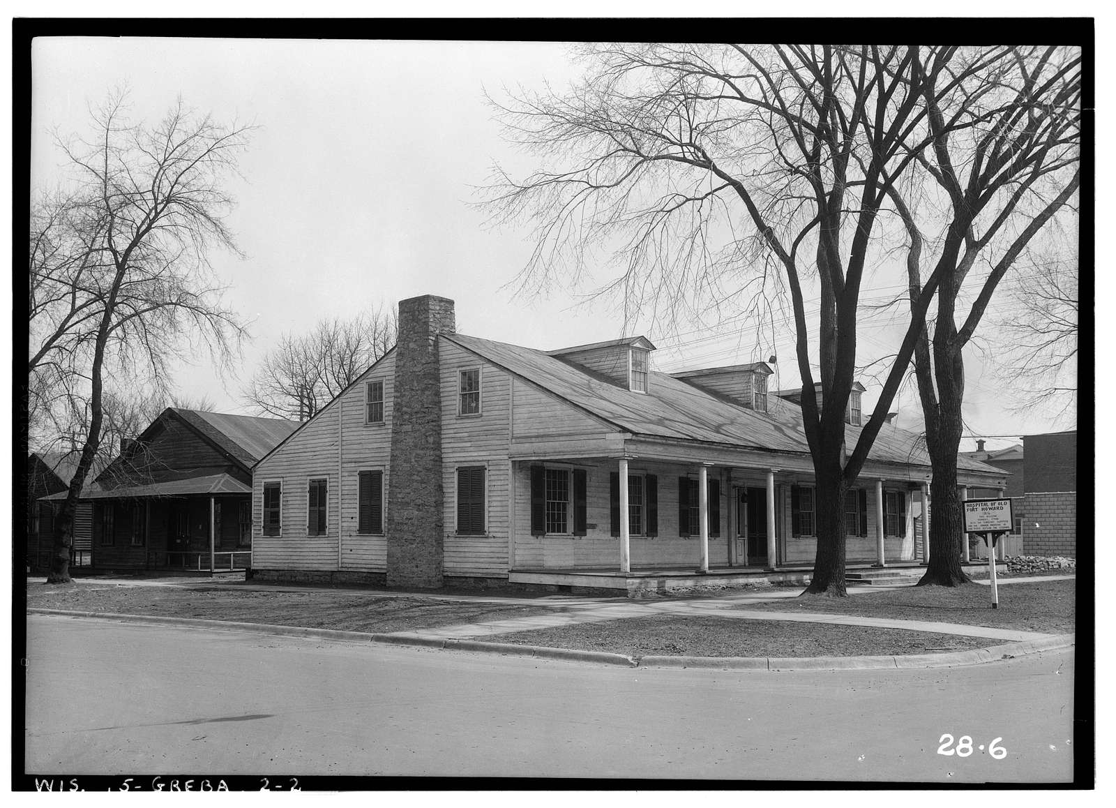 Fort Howard Hospital, Chestnut Avenue & Kellogg Street, Green Bay, Brown County, WI