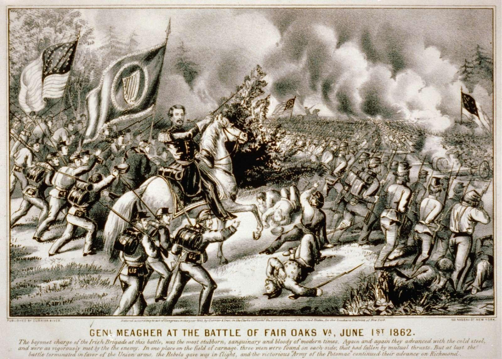 Genl. Meagher at the Battle of Fair Oaks Va., June 1st 1862