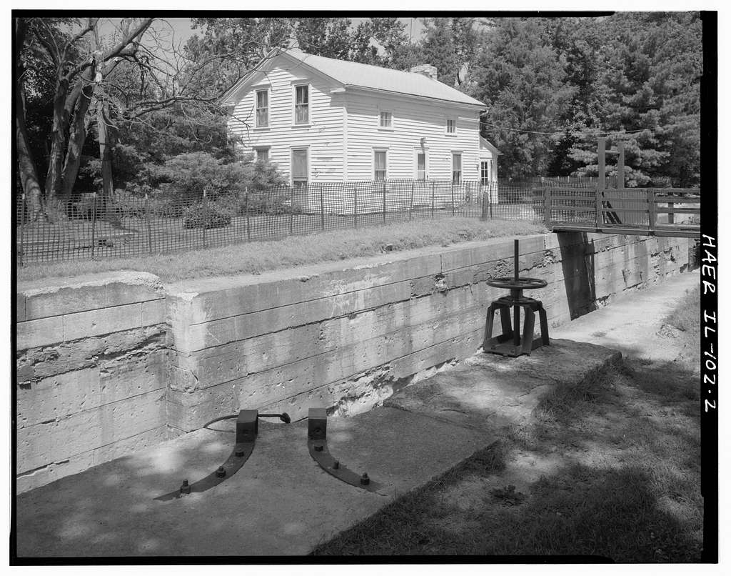 Illinois & Michigan Canal, Channahon Locktender's House, I&M Canal at Lift Lock No. 6, Channahon, Will County, IL