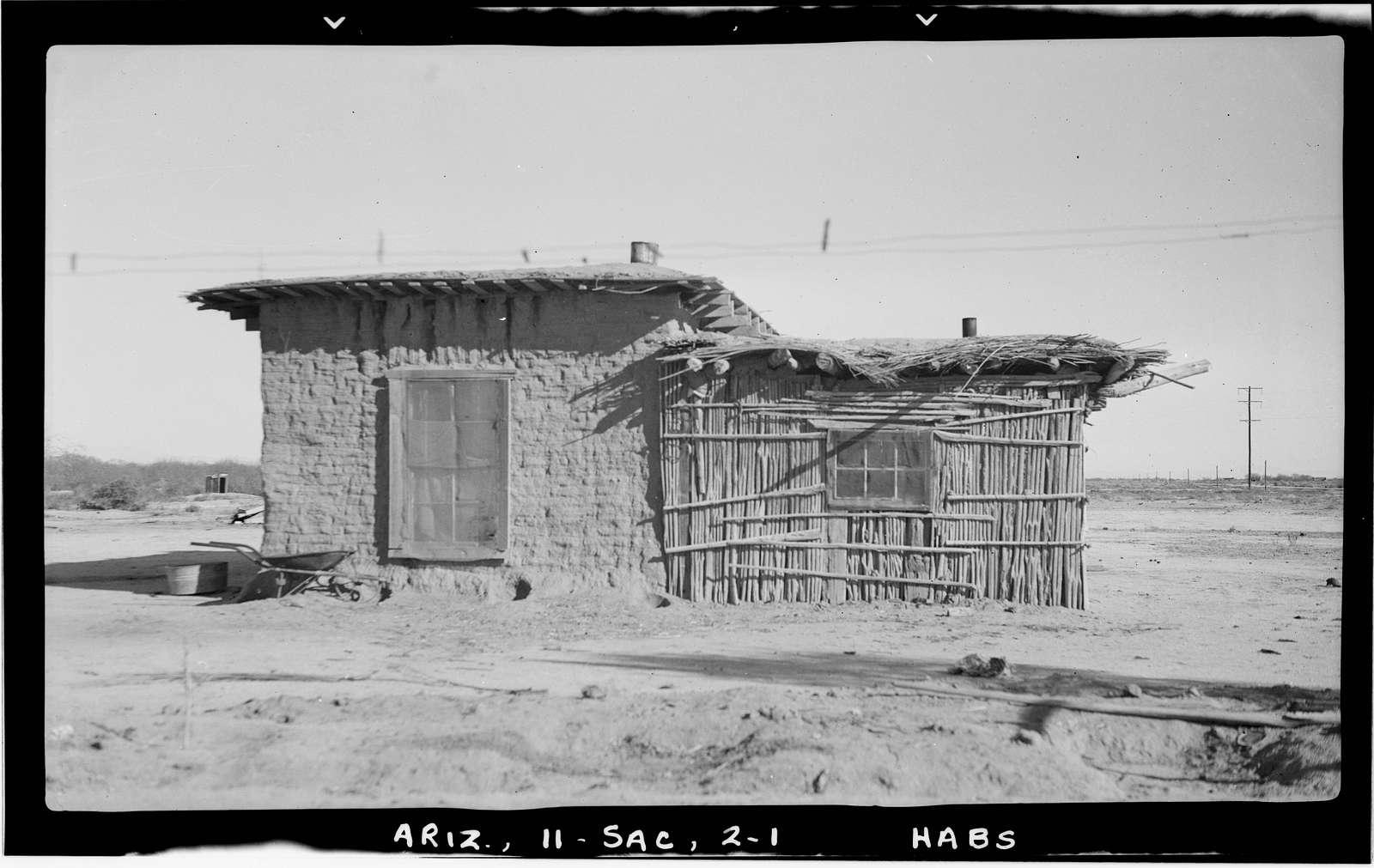 Indian House, Vah Ki Vicinity, Sacaton, Pinal County, AZ