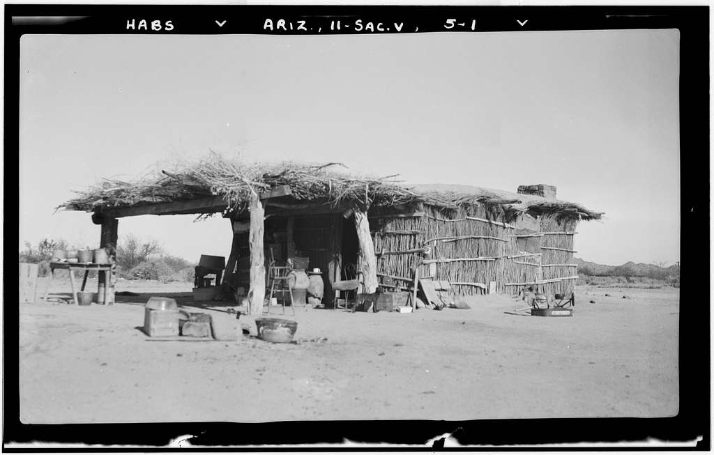 Indian House with Veranda, Sacaton, Pinal County, AZ