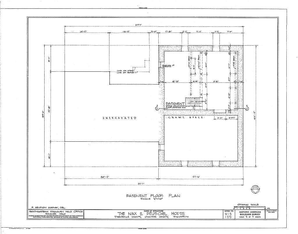 Max E. Peuschel House, County Trunk M, Thiensville, Ozaukee County, WI