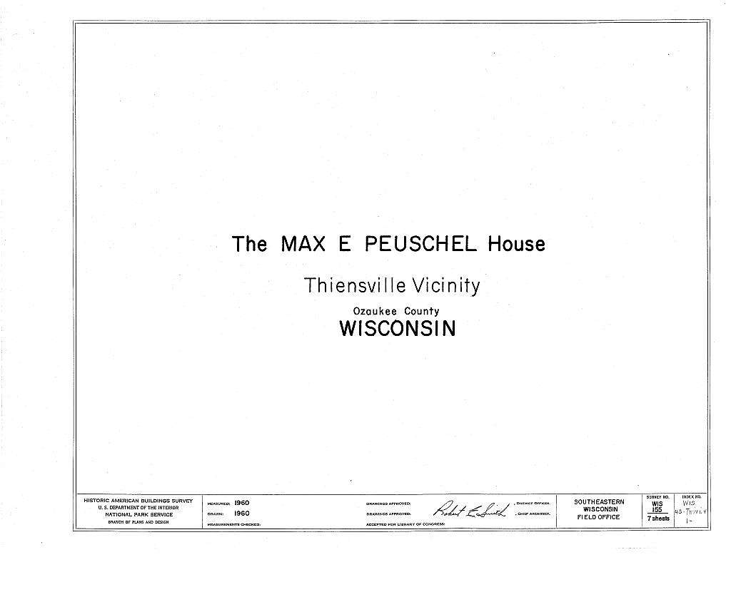 Max E. Peuschel House, County Trunk M, Thiensville, Ozaukee County, WI