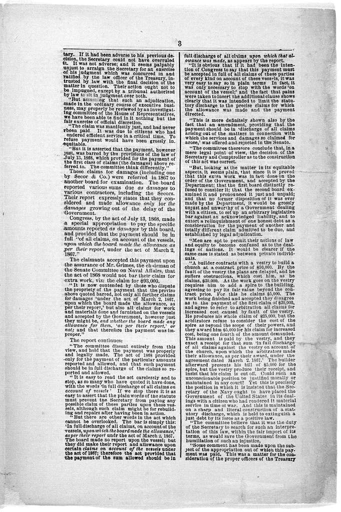 Navy Department investigation reviewed. Calumny refuted by Democrats and Republicans alike. [Washington, D. C.?. 1869?].