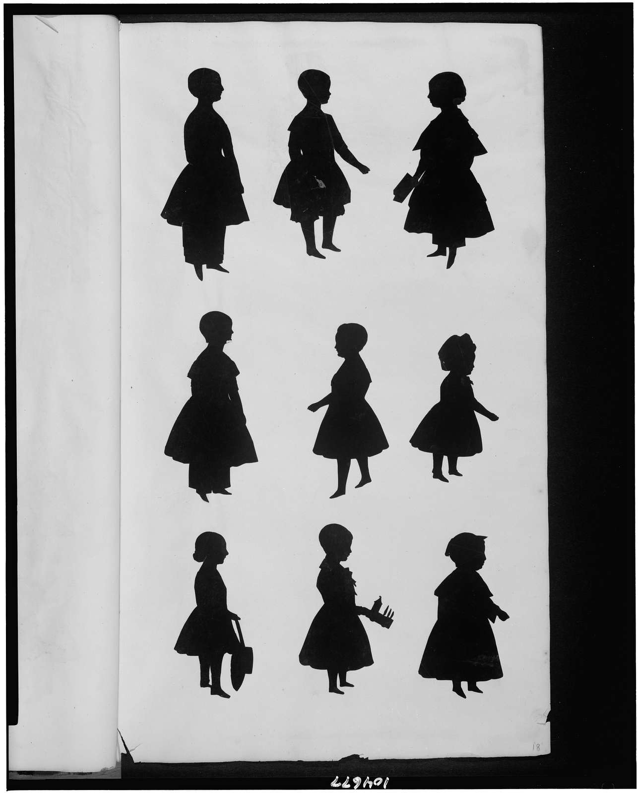 [Nine silhouettes of children]