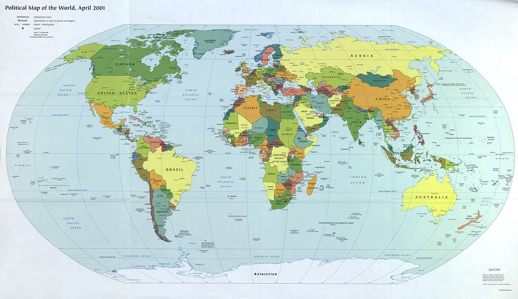 Image of: Political Map Of The World April 2001 Picryl Public Domain Image