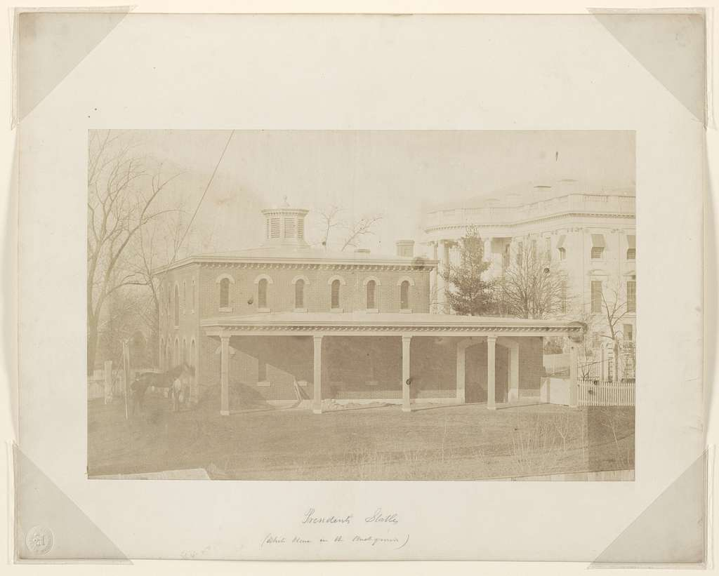 President's stables (White House in the background).