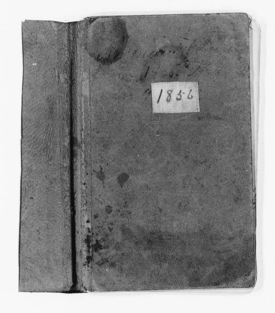 Susan B. Anthony Papers: Daybook and Diaries, 1856-1906; Daybook, 1856-1860