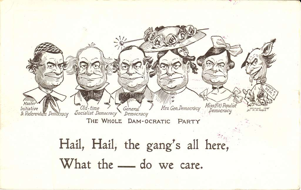 The whole Dam-ocratic Party. Hail, hail, the gang's all here ...