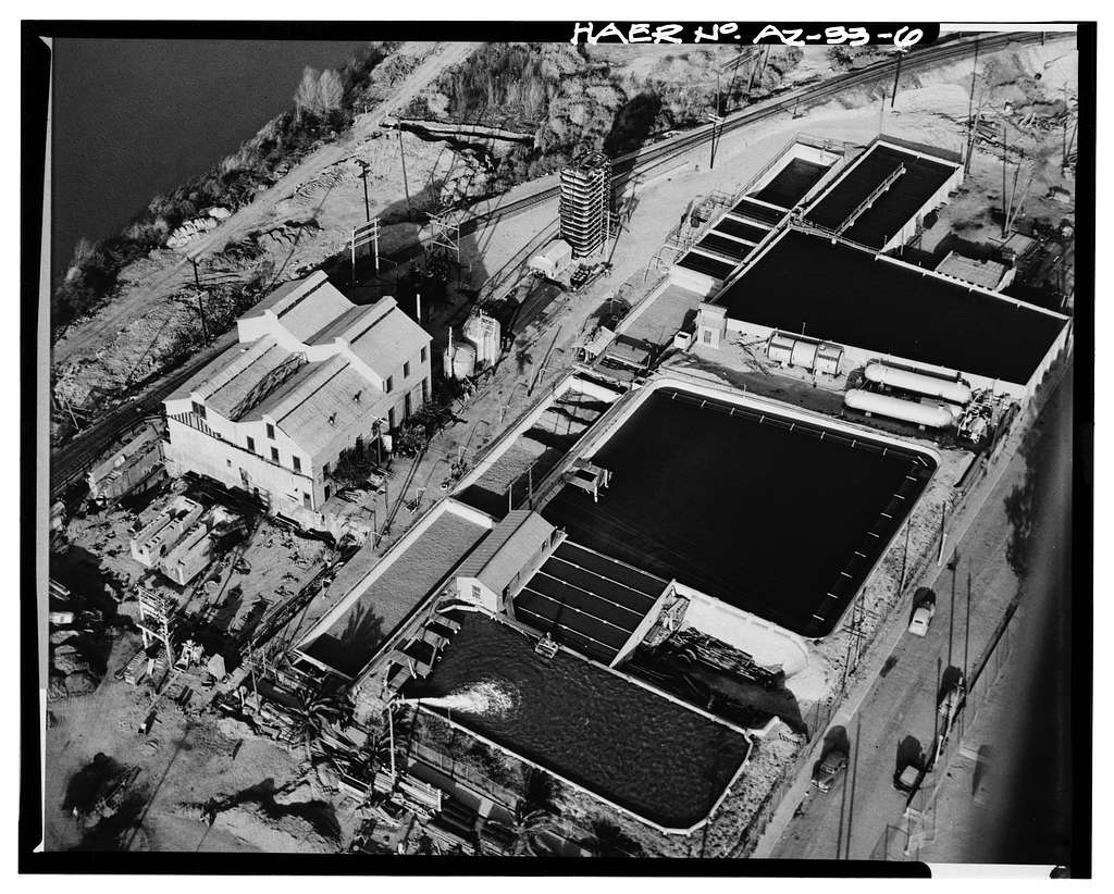 Yuma Main Street Water Treatment Plant, Jones Street at foot of Main Street, Yuma, Yuma County, AZ
