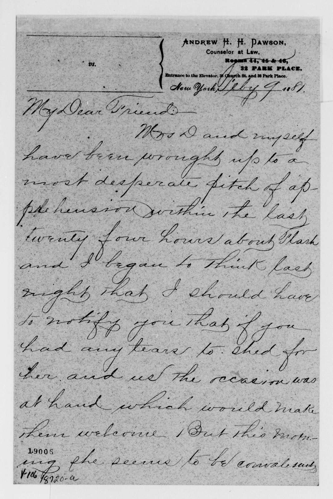 Alexander Hamilton Stephens Papers: General Correspondence, 1784-1886; 1880, Dec. 13-1881, July 27