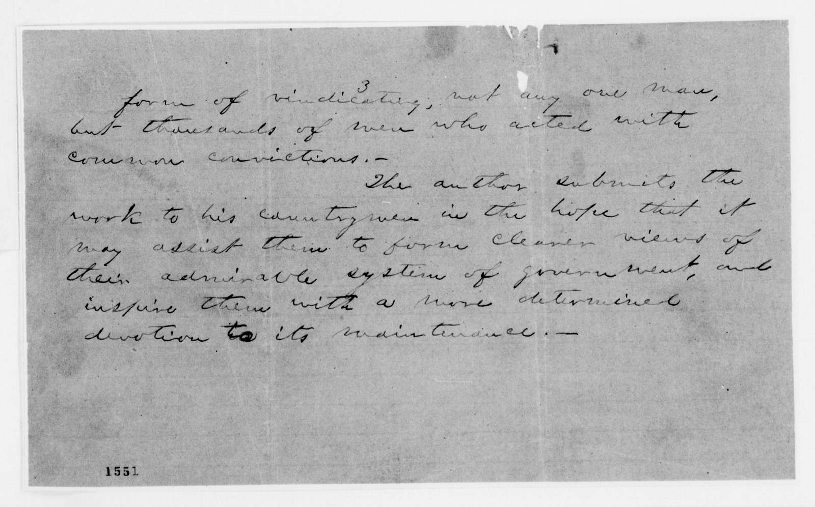 Alexander Hamilton Stephens Papers: General Correspondence, 1784-1886; Miscellaneous