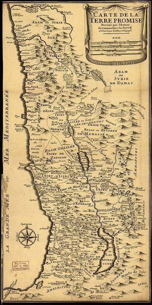 Carte de la Terre Promise.