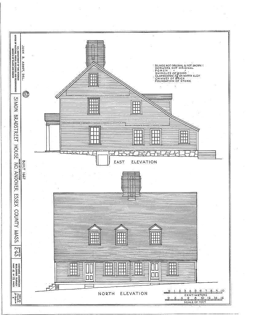 Governor Simon Bradstreet House, 159 Osgood Street, North Andover, Essex County, MA