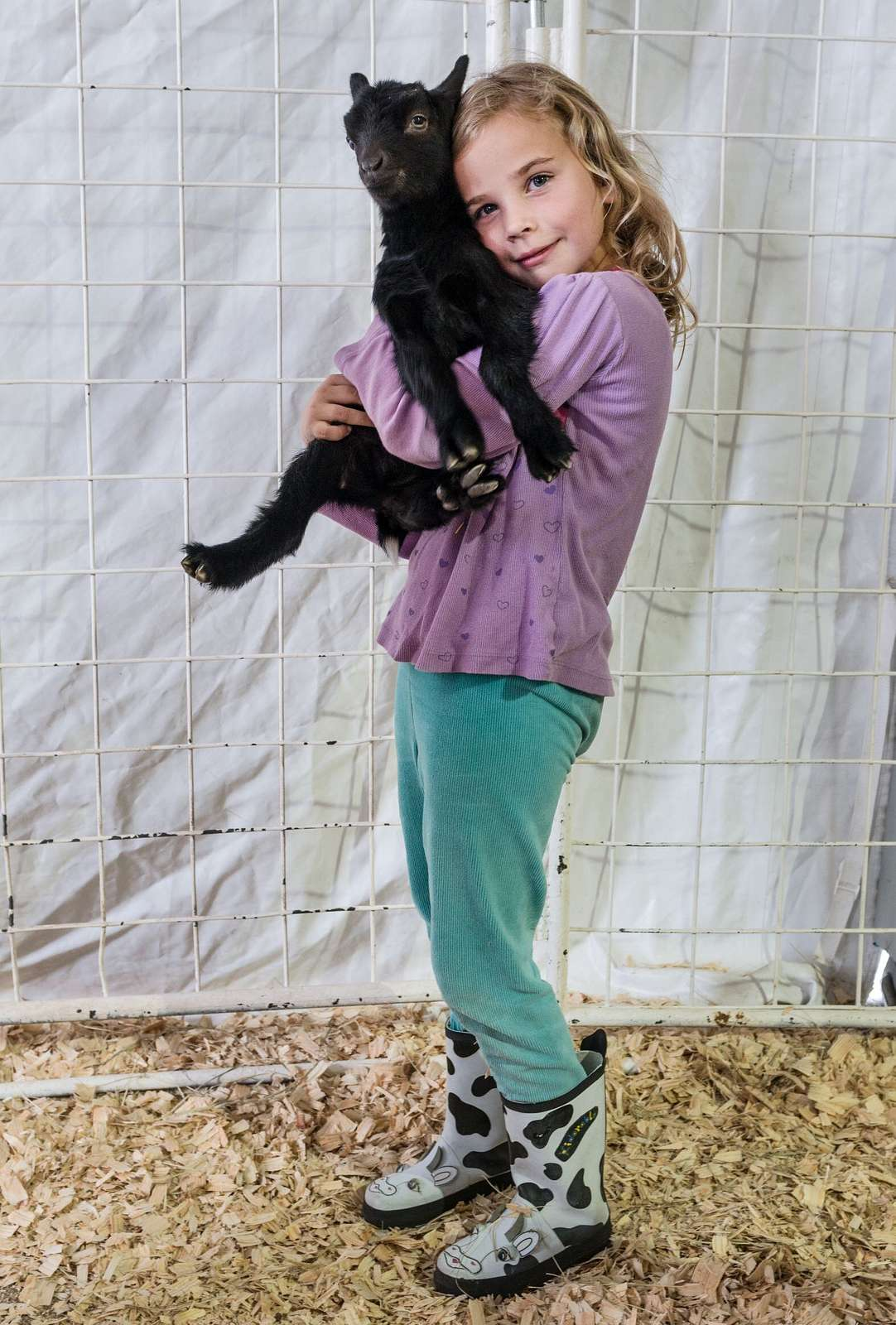 Grace Slanina Wertz And Her Goat At The Stock Show Portion
