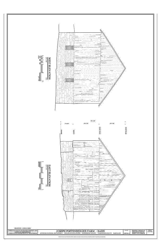 Joseph Poffenberger Farm, Barn, 17834 Mansfield Avenue, Sharpsburg, Washington County, MD