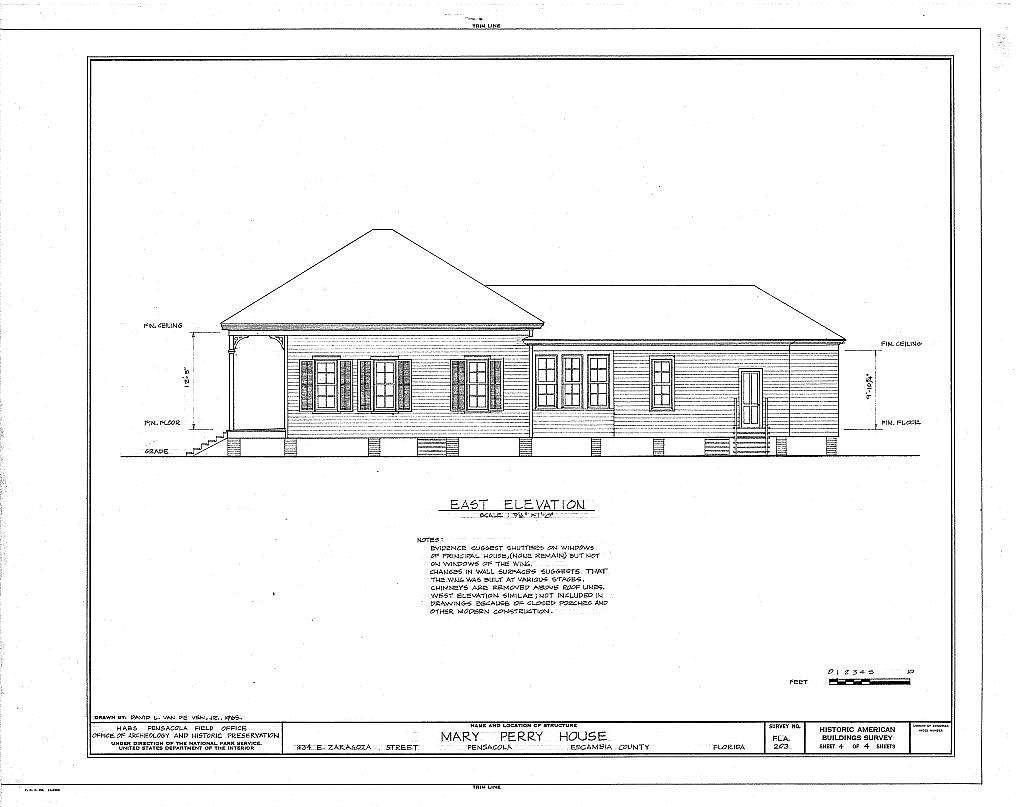 Mary Thackeray Perry House, 434 East Zaragoza Street, Pensacola, Escambia County, FL