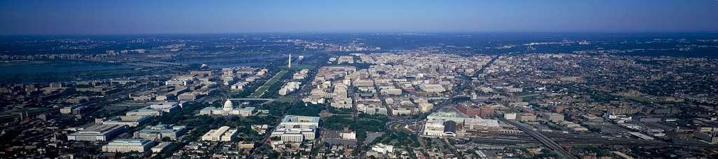 Panorama aerial of Washington, D.C.