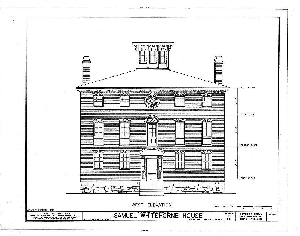 Samuel Whitehorne House, 414 Thames Street, Newport, Newport County, RI