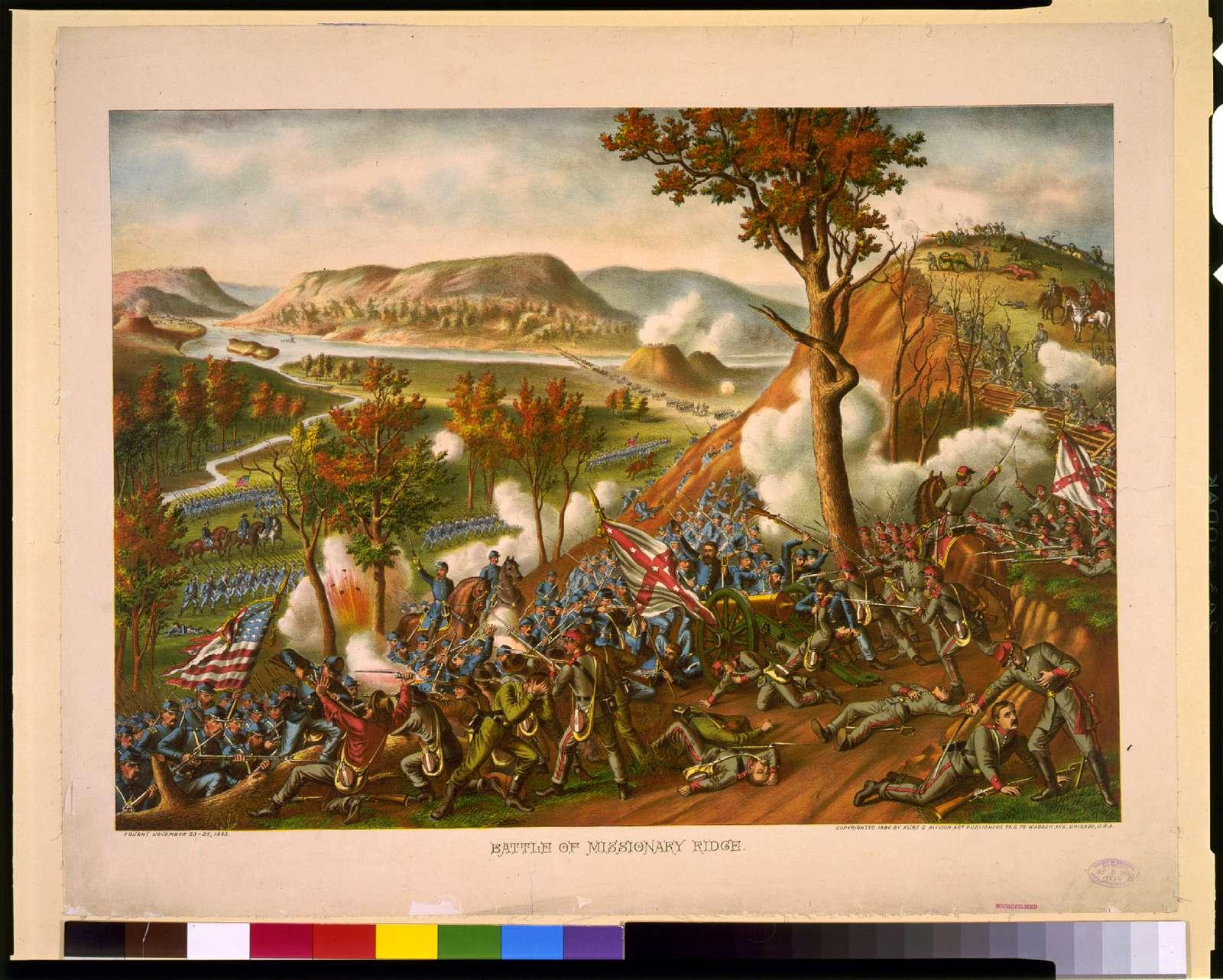 Battle of Missionary Ridge - fought November 23-25, 1863