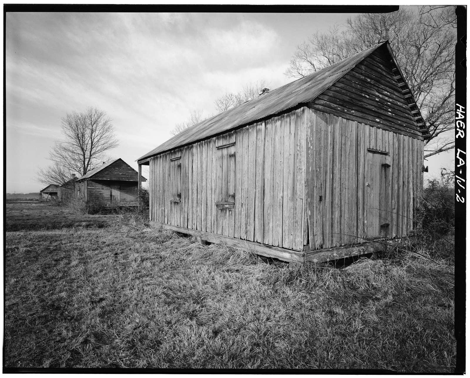 Laurel Valley Sugar Plantation, Shotgun Quarters, 2 miles South of Thibodaux on State Route 308, Thibodaux, Lafourche Parish, LA