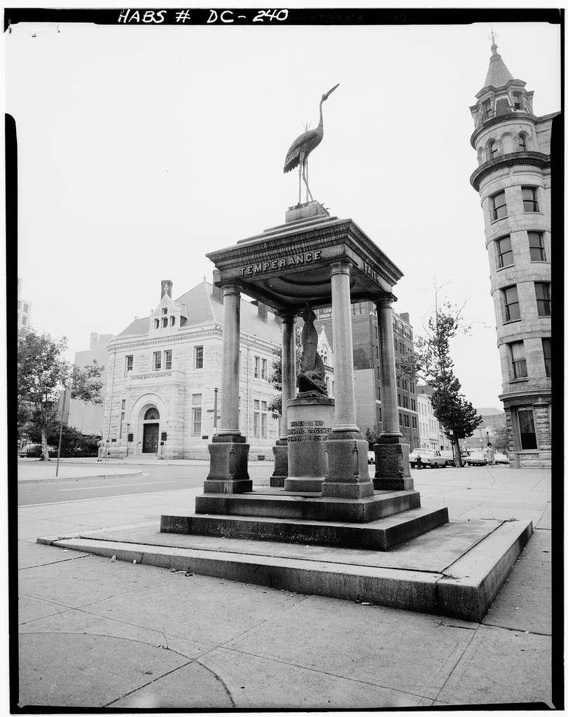 Temperance Fountain, Pennsylvania Avenue & Seventh Street Northwest, Washington, District of Columbia, DC
