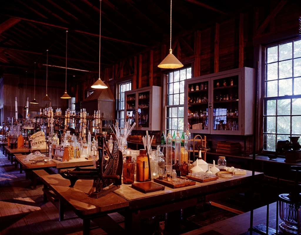 Thomas Edison's laboratory at his winter home, which he called 'Seminole Lodge,' in Fort Myers, Florida