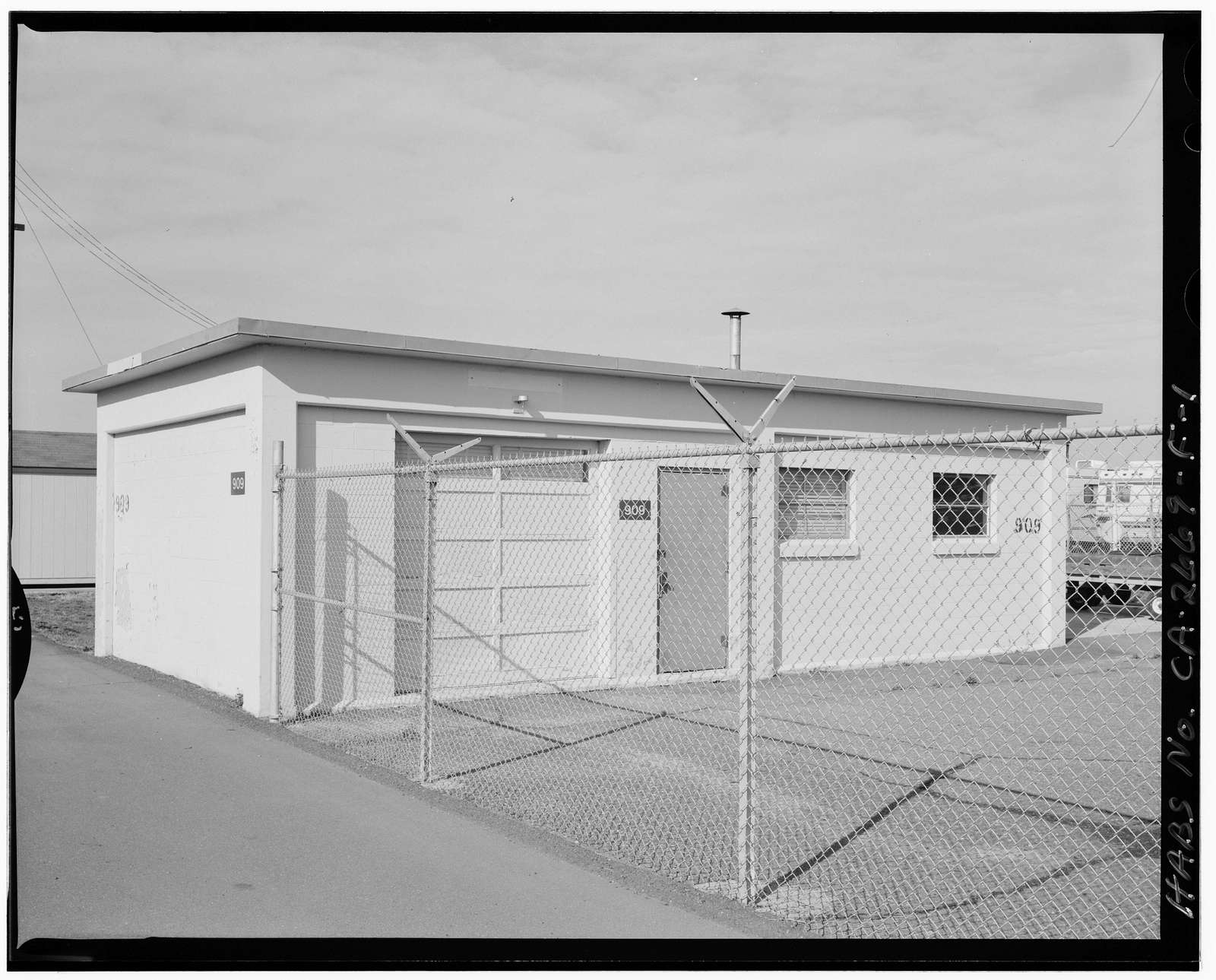 Travis Air Force Base, Handling Crew Building, North of W Street, Armed Forces Special Weapons Project Q Area, Fairfield, Solano County, CA