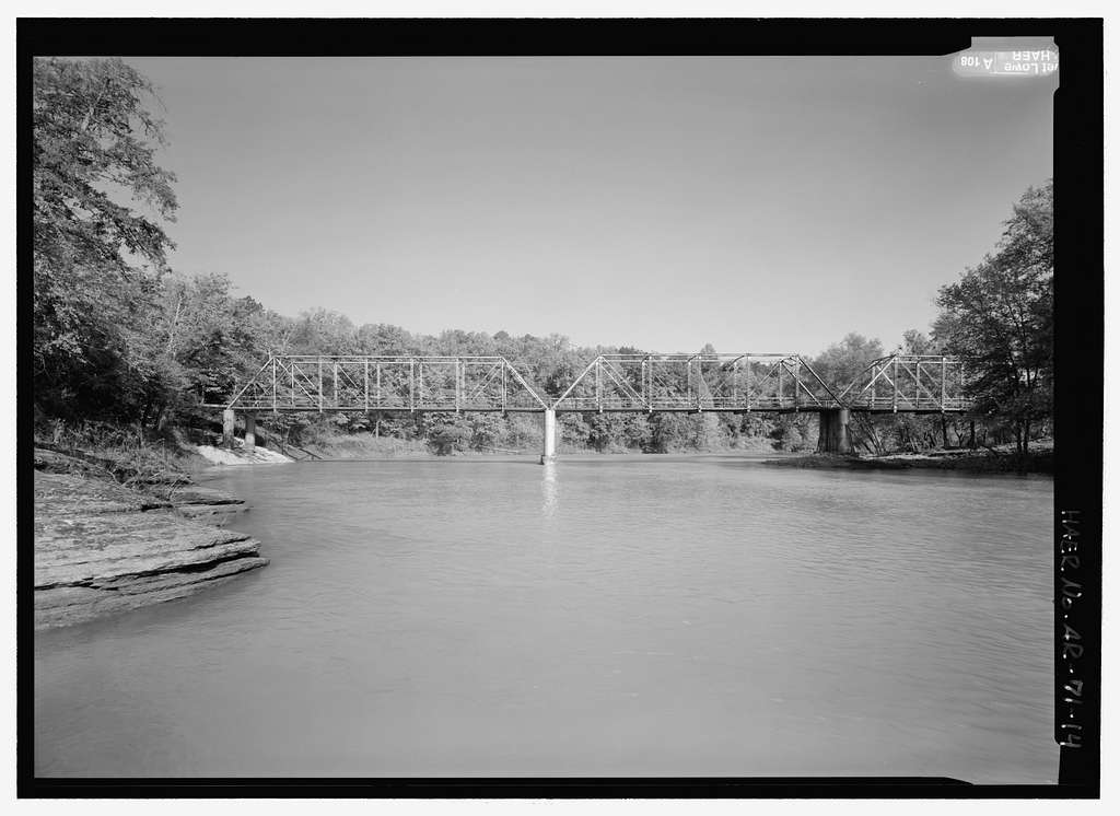 Wire Ford Bridge, Spanning Big Mulberry Creek at Wire Road (CR 67), Pleasant Hill, Crawford County, AR
