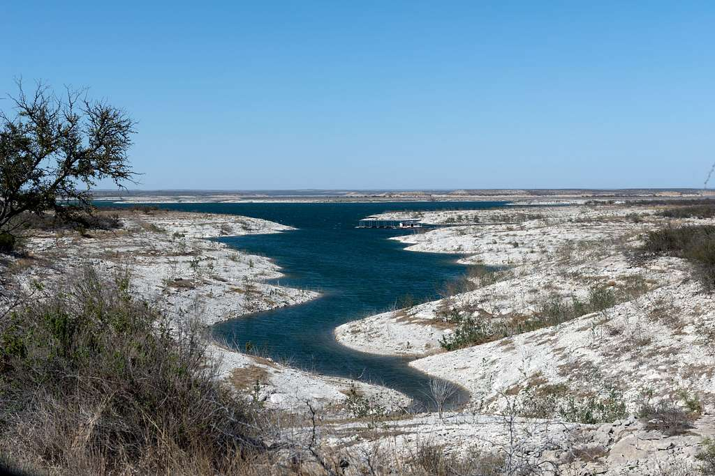 A portion of the Amistad National Recreation Area, outside Del Rio in Val Verde County, Texas