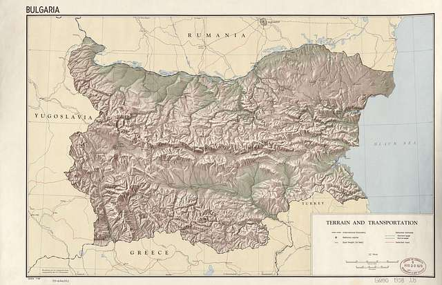 Karta Na Blgariya Fiziko Geografska Karta Picryl Public Domain